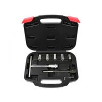 Комплект фрезери за почистване леглата на инжектори G02657 / дюзи , 7 части в куфар /