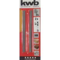 Ножове за електрически ренде KWB / 2 бр , 82 мм /