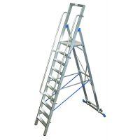 Двураменна алуминиева стълба с  голяма платформа Krause Stabilo  / 10 стъпала включително платформата,   4.35 m /