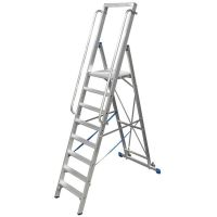 Двураменна алуминиева стълба с  голяма платформа Krause Stabilo  / 12 стъпала включително платформата,   4.80 m /