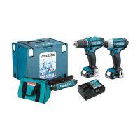 Комплект акумулаторни инструменти Makita CLX201AX6 винтоверт DF331D / 12 V ; 2 Ah / и гайковерт TD110D / 12 V; 2 Ah /