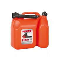 Пластмасова туба за масло и бензин HECHT /  6 л + 2.5 л  /