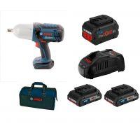 Акумулаторен ударен гайковерт Bosch GDS 18 V-Li HT /18 V, 2x ProCORE 4.0Ah,  1x ProCORE Ah, зарядно у-во + чанта за инструменти /