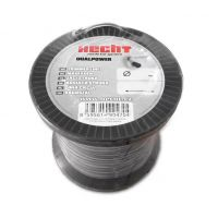 Корда за косачка тример, кръгла усилена HECHT DUAL POWER 10352020 / 2 mm x 520 m /