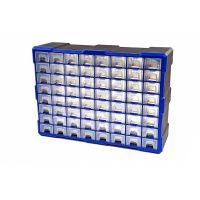 Шкаф органайзер със 64 чекмеджета HBM 8695 / 52 x 16 x 37 cm  /