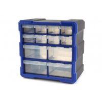 Шкаф органайзер с 12 чекмеджета HBM 8937 / 26.5 x 16 x 26.5 cm /