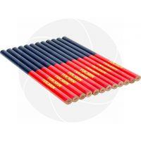 Комплект двуцветни дърводелски моливи Tolsen / 7.5x176mm /