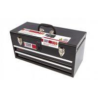 Метален куфар за инструменти с 2 чекмеджета HBM Profi Toolbox 9007 / 515 x 225 x 270 mm, черен /