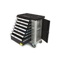 Количка за инструменти с 7 чекмеджета HBM 6792 / с включени инструменти 245 бр, 890 x 460 x 970 mm /