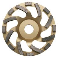 """Диамантен диск Ø 100 мм серия """"TURBO"""" за шлайфане на естествени камъни, гранит, бетон и други строителни материали Bavaria Tools /за ъглошлайфи, Ø 100 мм/"""