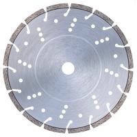 Диамантен диск за чугун, железни профили, стомана (до 7.0 mm), ламарина (от 2 до 7 mm), неръждаема стомана (до 5 mm), армиран бетон и гранит Bavaria Tools /за моторни фугорези, Ø 300 мм/