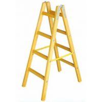 Дървена стълба PSDS / 4 стъпала, 132 см /