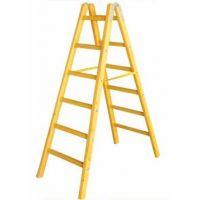 Дървена стълба PSDS / 6 стъпала, 192 см /