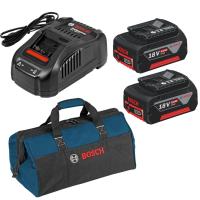 Стартов комплект: Акумулаторна батерия Bosch GBA 18V 5.0Ah- 2 бр. + GAL 1880 CV + Професионална чанта Bosch