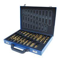 Комплект свредла за метал Holzmann  SPS170TIN  / HSS,    170бр,   1-10mm,   TiN/