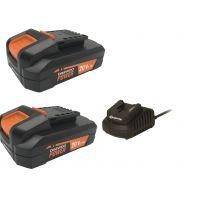 """Стартов пакет Daewoo  Зарядна станция """"UNI-BAT""""  /  21V, 2.5Ah + Батерия  """"UNI-BAT"""" 20V, 2.0Ah + Батерия  """"UNI-BAT"""" 20V, 4.0Ah /"""