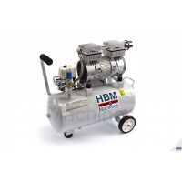 Безмаслен безшумен професионален компресор HBM / 30 l, 750 W, 53 dB, 120 l/min/