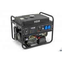Бензинов монофазен генератор HBM 9231 с ел. старт / 5.5 KW, 25л. резервоар, 2 x 230 Volt, 1 x 12 Volt/