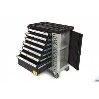 Количка с инструменти HBM 9404 Premium / с включени инструменти 245 броя, 7 бр. чекмеджета,  890 x 460 x 970 мм/