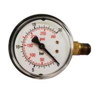 """Манометър за регулиране на налягане със странично присъединяване FIAC 3088 / Ø 63 mm,   750,  1/4""""/"""