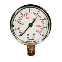 Манометър за регулиране на налягане с долно присъединяване  FIAC 3089  / Ø 63 mm,  740/