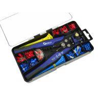 Мултифункционални клещи за кримпване комплект Geko G01776 + 260 консуматива