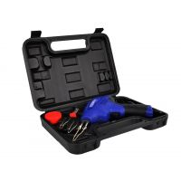 Индукционен поялник комплект с LED светлина GEKO G81215 - 200W, 500°C  + тинол, флюс и 3 накрайника в куфар