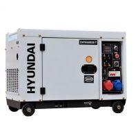 Мотогенератор трифазен / монофазен дизелов обезшумен HYUNDAI DHY 8600SE/Т, 7.9 kVА, ел. стартер