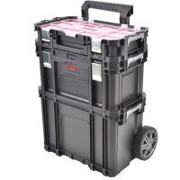 Професионален мобилен куфар за инструменти HECHT 2095, 3 отделения тип количка