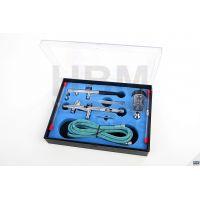 Пневматичен аерограф HBM BD 280 K /1 - 3,5 Bar/ комплект сребърен и черен