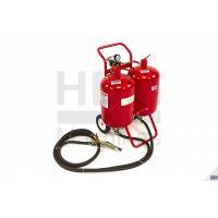 Мобилен пясъкоструен апарат/ пясъкоструйка HBM 5344 DUO SODA / 4-9 bar, 2 х 37 Л / двоен