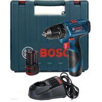 Акумулаторен винтоверт Bosch GSR 120-LI /12 V Li-ion , 2.0 Ah , 2 батерии, зарядно и куфар /