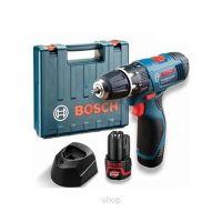 Акумулаторна ударна бормашина Bosch GSB 120-LI Professional /2 x 2.0 Ah, куфар/
