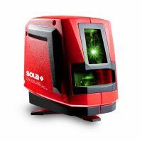 Лазерен линеен нивелир SOLA Crossline Green / 2 лъча 20 м, 0.2 мм/м., с тринога/
