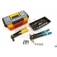 Професионален комплект нитачки за занитване на попнитове и нитгайки 2,4-4,8мм, М3- М8 HBM 4902