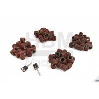 Комплект цилиндрични шкурки за полиране и шлайфане HBM 6556 /100 части/