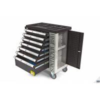 Количка с инструменти HBM 9405 Premium / с включени инструменти 262 броя, 7 бр. чекмеджета /