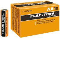 Алкална подсилена батерия Duracell Industrial за професионална употреба LR6 с напрежение 1.5 V.