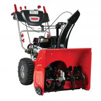 Самоходен бензинов снегорин Hecht 9661 SE с двигател LONCIN / 61 см, 6,5 к.с. / ЕЛ. СТАРТ + LED Фар