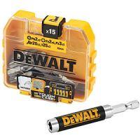 Комплект магнитен адаптор и битове DEWALT DT71511 / 15 части /