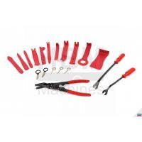 Комплект инструменти за демонтаж на тапицерии, облицовки на врати и радио HBM 9555 / 19 части /
