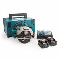 Акумулаторен ръчен циркуляр Makita DHS660RTJ /ф 165 мм, 18 V, 5 Ah, 5000 об./мин/