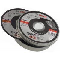 Диск за рязане, прав, Bosch Standard for Inox - Rapido / 125 х 22,23 х 1 мм, 10 бр. / в метална кутия