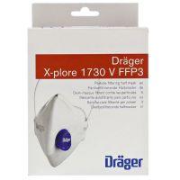 Предпазна маска Дрегер / Dräger X-plore 1730V, FFP3, с клапан за безопасно дишане в ежедневието, 10 броя