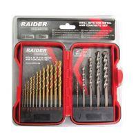 Свредла за метал и бетон 17 броя комплект Raider Ø1.5 - 10 mm