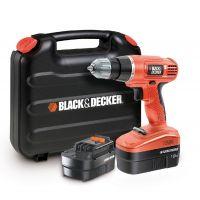 Винтоверт акумулаторен  Black&Decker EPC18CABK  /18.0V, куфар и 2 батерии/