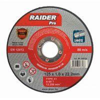 Диск за метал Raider 125 х 1.0 х 22.2 mm A60T Inox RDP