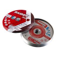 Диск за метал Raider 125 х 1.0 х 22.2 mm A60T Inox метална кутия 10 броя RDP