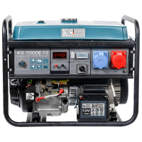 Монофазен/трифазен бензинов генератор с ел. старт, AVR 5,5 kW Könner & Söhnen KS 7000E 1/3