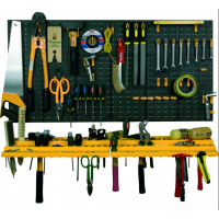 Стена / стелаж за инструменти Port Bag 2 бр. 50 х 50 cm, 2 рафтa + 50 бр. куки